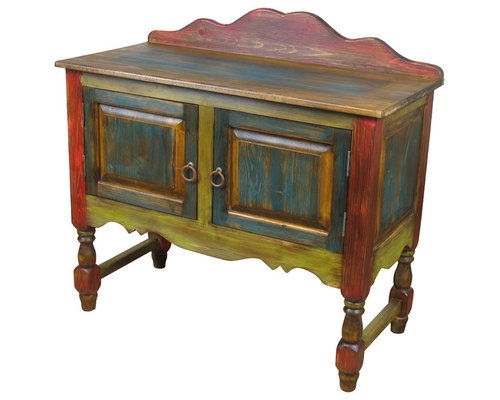 Rustic Painted Wood Mexican Furniture