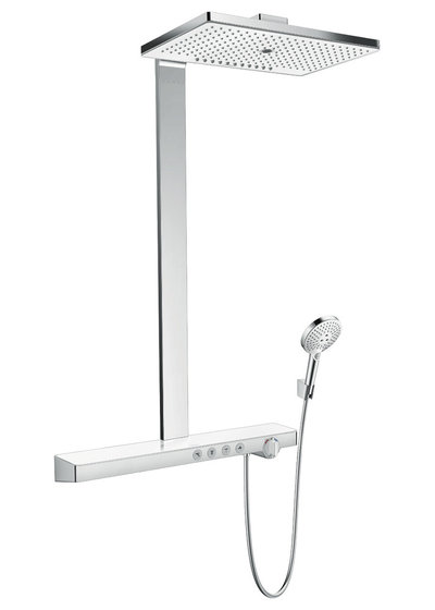 Modern Shower Panels and Rails by Hansgrohe France