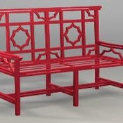Wrought Iron Mandarin Bench Settee by The Well Appointed House