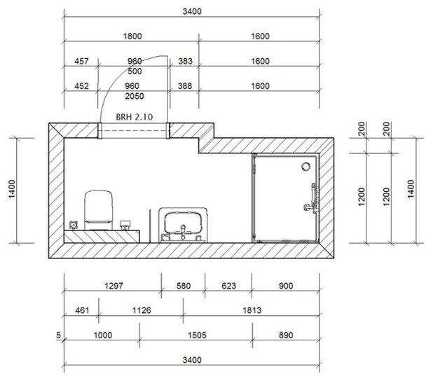 Minibad grundriss innenarchitektur und m belideen - Grundriss kleines bad ...
