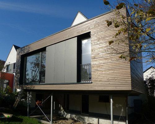 aufgest nderter anbau an ein einfamilienhaus in holzbauweise. Black Bedroom Furniture Sets. Home Design Ideas