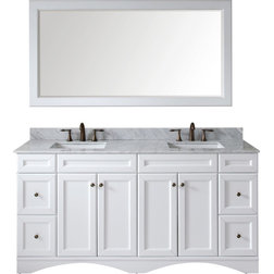 Tuscany Single Vanity With White Vessel Sink Gray With Mirror Four Bathroom Vanities