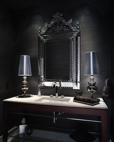 Elegant Powder Room Home Design Ideas, Pictures, Remodel