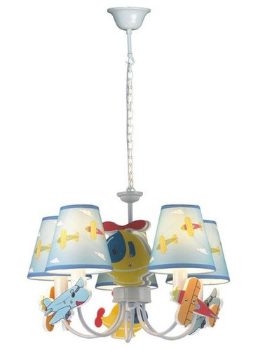 Lights Modern Style Airplane Theme Multicolored Chandelier