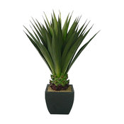 "43"" Artificial Tall Green Agave in Planter"