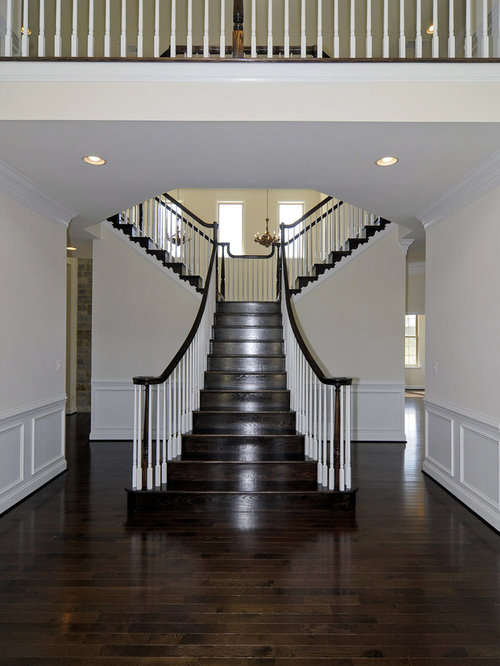 Dark Stained Stairs Home Design Ideas Pictures Remodel