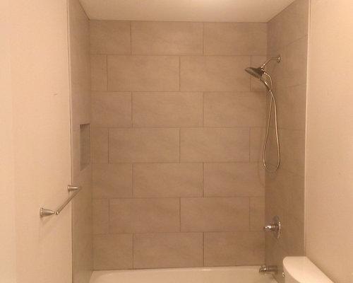 Bathroom 12 Quot X 24 Quot Gray Wall Tile 5 Quot X 24 Quot Wood Plank