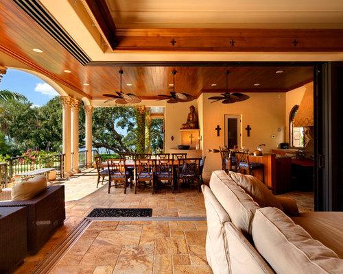 mediterranean tampa family room design ideas remodels. Black Bedroom Furniture Sets. Home Design Ideas