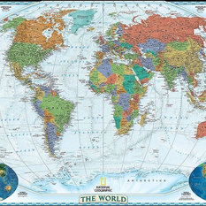 Shop old world map mural products on houzz for Executive world map wall mural