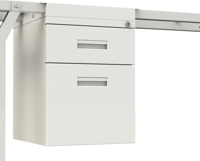 Hanging Drawers Personal Box and File White - Contemporary - Filing Cabinets - by SCALE 1:1