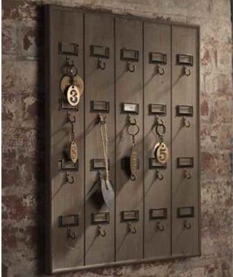 vintage wood key rack 3
