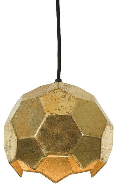 Polyhedron Pendent Sm Antique Gold Pendant Lighting Other Metro By Cose Belle Interior Design