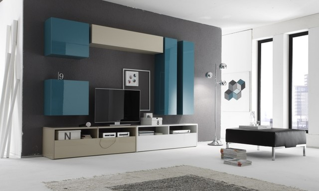 Modern wall unit box combi 11 by lc mobili   1,283.00   modern ...