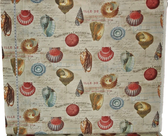 Shell fabric French letters document print travel Beach