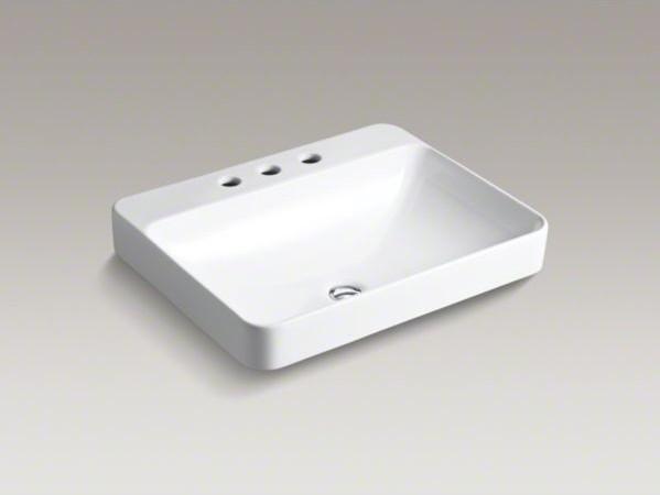 Kohler vox r rectangle vessel above counter bathroom sink - Kohler rectangular bathroom sinks ...