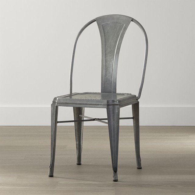 lyle metal dining chair industrial dining chairs by crate barrel