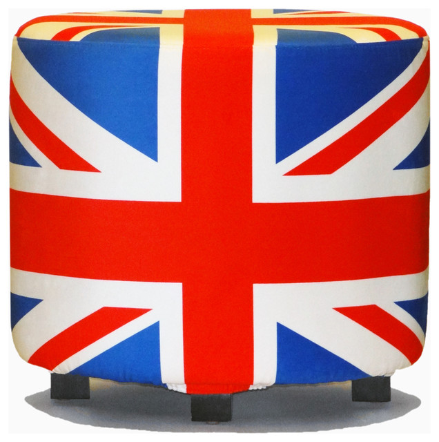 Union Jack Ottoman  Contemporary  Footstools And Ottomans