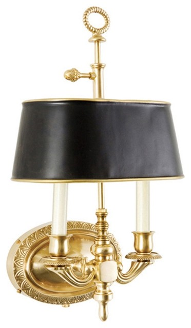 Wall Sconces Cooper Lighting : Frederick Cooper Demetrius Antique Brass Plug-In Wall Sconce - Traditional - Wall Sconces - by ...