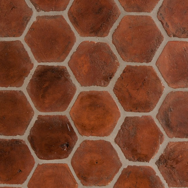 Spanish Terracotta Tiles Stained Light Walnut