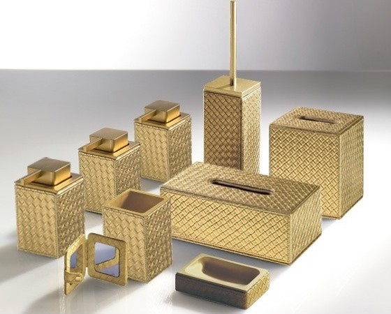 Marrakech gold bathroom accessories contemporary for Red and gold bathroom accessories