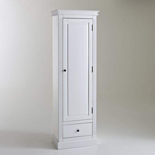 Armoire bonneti re pin massif coloris blanc aut modern kleiderschr nke - Armoire pin massif blanc ...