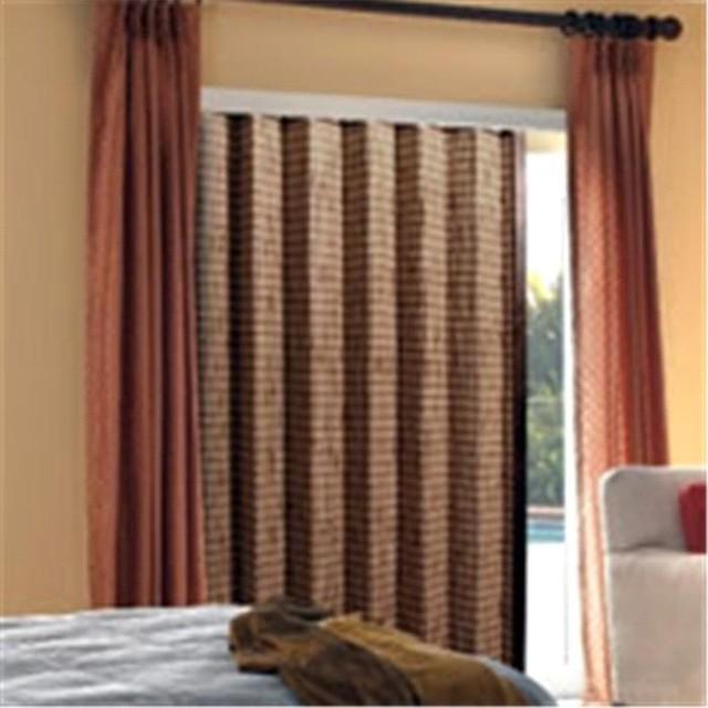 Steve 39 s blinds vertical alternatives woven folding panels for Natural woven flat fold shades