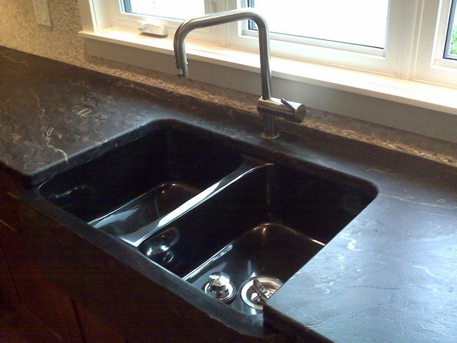 Granite Countertops With Custom Leather Finish
