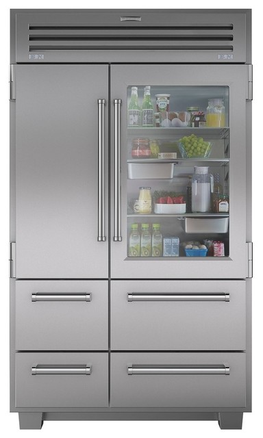PRO 48 with Glass Door - Modern - Refrigerators - by Sub-Zero and Wolf