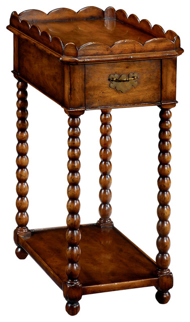 Jonathan Charles Queen Anne Rectangular Lamp Table 493043 Traditional Side Tables And End