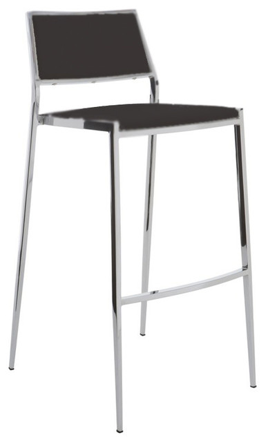 Aaron Stackable Black Bar Stool By Nuevo Hgbo177