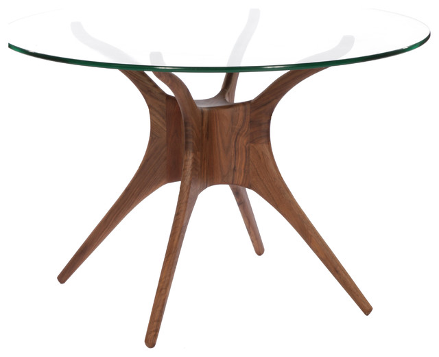 Roku round glass dining table modern dining tables for Dining tables sydney