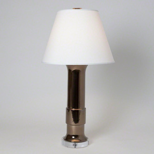 Studio A Low Collar Lamp Bronze