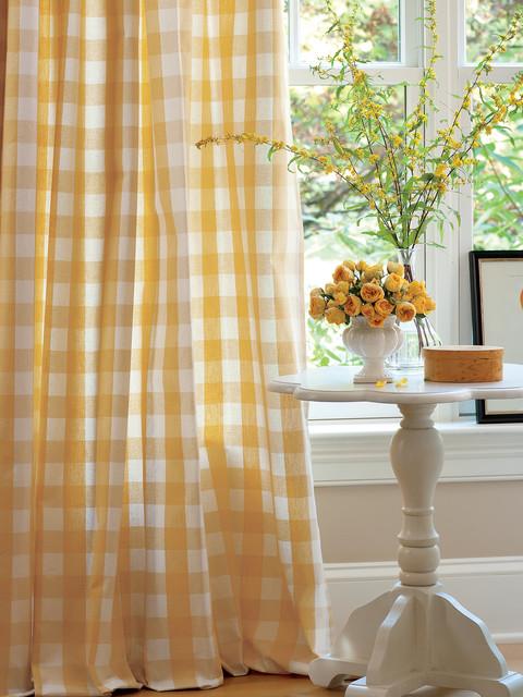 Buffalo Check Rod Pocket Curtains Traditional Curtains