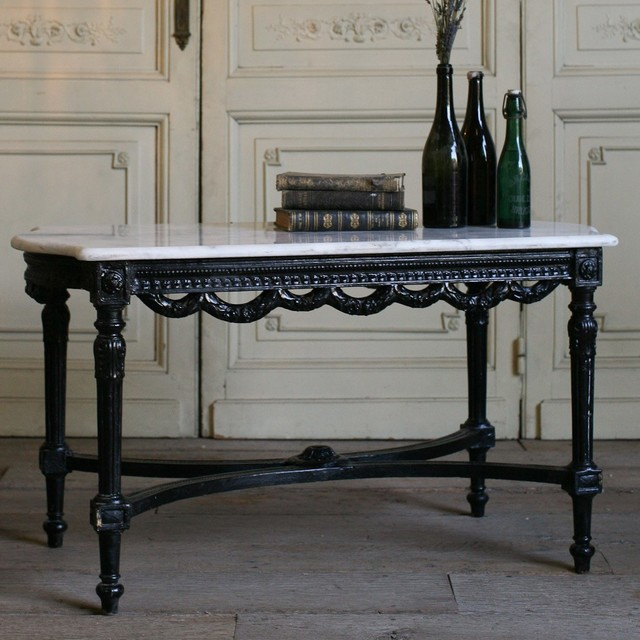 Eloquence One of a kind Vintage Coffee Table Black Gloss
