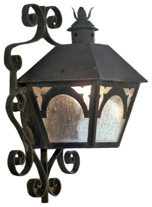 Custom Iron Wall Sconces : Custom Exterior Iron Lights - Mediterranean - Wall Sconces - san diego - by Hacienda Lights and Iron