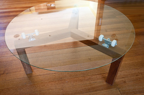 Lazy Susan Skate Table Contemporary Coffee Tables Melbourne By Chris Wann Woodwork
