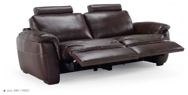 Natuzzi Editions Leather Sofa With 2 Motion B844