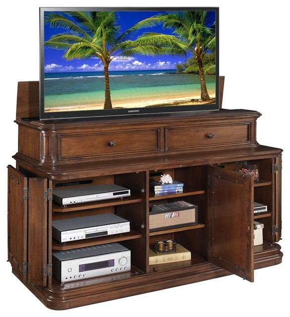 TV Lift Cabinets Transitional Furniture miami by