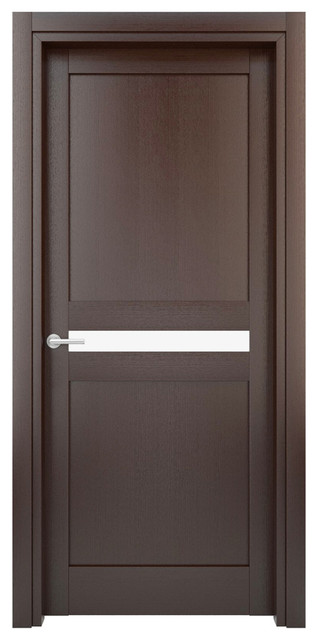 Interior Door Solid Wood Construction Laminated Wenge Model W20g 35 X 80 Contemporary Internal Doors By Evaa Home Design Center