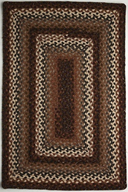 "Braided Rocky Road Oval 5 0""x8 Oval Brown Rust Area Rug Farmh"