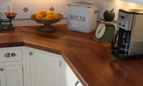 Cherry Wood Kitchen Countertop by Grothouse