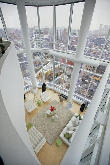 Chelsea Duplex Penthouse Modern Living Room New York