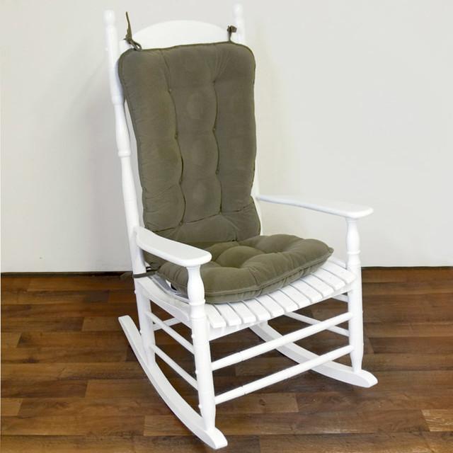 Sage Green Ribbed Microfiber Jumbo Rocking Chair Cushion