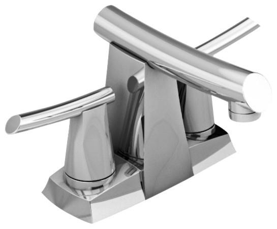Green tea centerset bathroom faucet in polished chrome