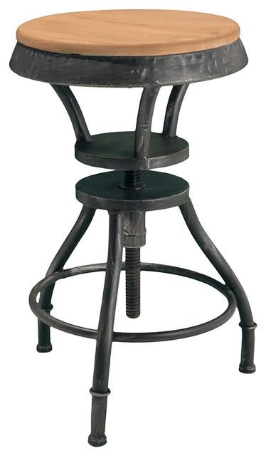 Houston Industrial Design Adjustable Height Bar Stool  : industrial bar stools and counter stools from houzz.com size 374 x 640 jpeg 41kB
