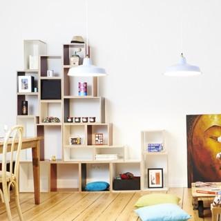 wohnwand bny standregal und wandregal bauhaus look. Black Bedroom Furniture Sets. Home Design Ideas