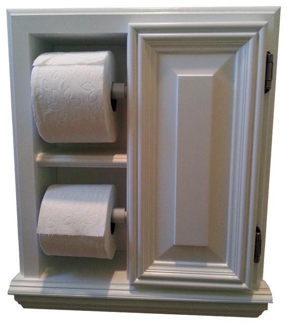 Deltona Series Deluxe Recessed Toilet Paper Cabinet Contemporary Toilet P