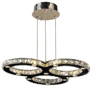 Modern Lighting Chandeliers 3 Ring