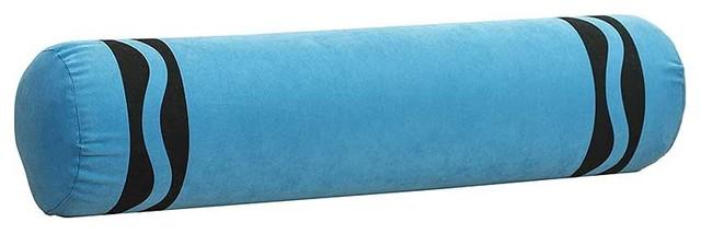 Modern Bolster Pillows : Crayola Crayon Bolster Pillow, Blue - Modern - Kids Bedding - by BlanketWarehouse