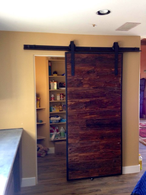 Sliding Barn Door Mushroom Wood Industrial Pantry Eclectic Interior Doors  Phoenix